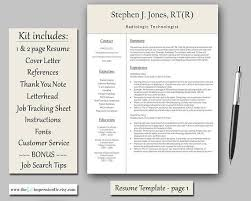 1 Page Resume Template Interesting The 48 Best Resume Template Kits CV Templates Images On Pinterest