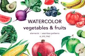 Download 25,358 vegetables free vectors. Watercolor Vegetables Fruits Graphic By Vera Vero Creative Fabrica
