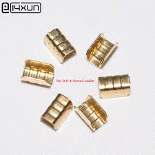 200pcs u type car wiring harness terminal connectors copper joint automotive wiring harness connectors at Car Wiring Connectors