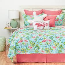 c f home flamingo garden quilt set