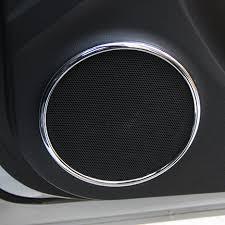 Emaicoca 4pcs/set <b>ABS Chrome</b> trim decoration Speaker Ring <b>car</b> ...