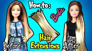 Barbie Hair Extensions Design Website How To Make Hair Extensions For Barbie Doll Diy Barbie