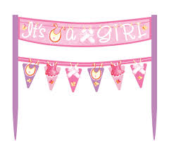 Pink Banners Pink Its A Girl Cake Banners Are An Easy And Inexpensive Way To Add A Splash Of Color To Your Party Cake