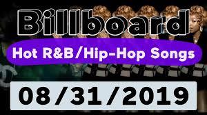 Rap Airplay Chart Billboard Top 50 Hot R B Hip Hop Rap Songs August 31 2019