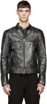 biker jackets belstaff black vintage leather david beckham edition jacket