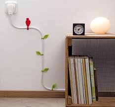 wall decorating with electric cords creative way to hide cables with unique designs