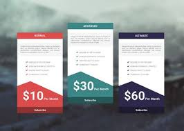 Pricing Templates For Services 35 Free Photoshop Psd Price Templates For Pricing Tables