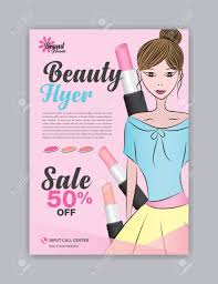 Beauty Flyer Template Magazine Ad Cosmetics Poster Leaflet