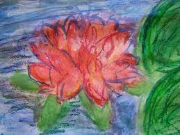 some of the children in class db used pastels and others used watercolour paint