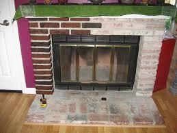 staining brick fireplace small