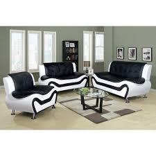 modern living room sets black. Ceccina 3 Pc Modern Leather Living Room Sofa Set 17413134 Sets Black M