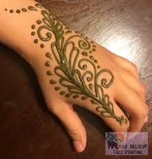 Henna Face Paint Designs Henna Tattoos Mehndi Make Believe Face Painting
