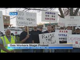 Kansas Gas Service Customer Service Kansas Gas Service Workers Stage Protest For Better Healthcare Fair