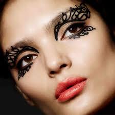 tattoo sticker lace make up transfer eye rock black liner shadow 600 x 600px leopard print