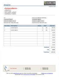 Billing Form Template New 48 Free Service Invoice Templates [Billing In Word And Excel]