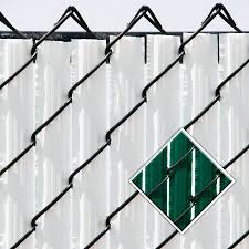 pexco pds green chain link fence privacy slat fits common fence height 6