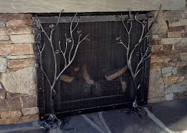 Unique fireplace screens Fire View The Heirloom Companies Fireplace Screen Handmade Fireplace Tools Hand Forged Design