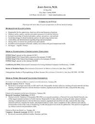 State Department Physician Sample Resume