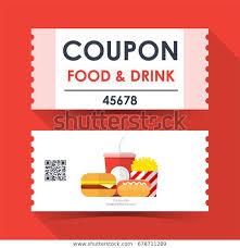 Coupon Food Drink Ticket Card Element Signs Symbols Food