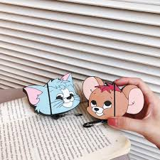 Wireless Mouse Cat Design Us 4 38 For Apple Airpods Case Tom Cat Jerry Mouse Cartoon Silicone Bluetooth Wireless Earphone Shockproof Protective Case In Earphone Accessories