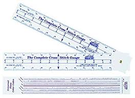Complete Cross Stitch Gauge Scales For 12 Fabric Counts Count Stitches Determine Dimensions And Where To Start Designbonus Floss Number