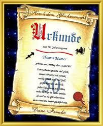 50geburtstag Schöne Glückwunschkarte In Form Einer Urkunde