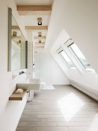 attic lighting. Attic Bathroom Designed With White Walls And Windows Also Modern  Lighting : Different Types Of Attic Lighting