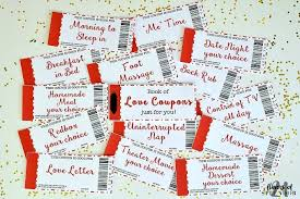 Creative Coupons For Boyfriend Free Printable Love Coupons The Perfect Gift 21 Flavors Of