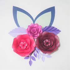 Homemade Paper Flower Decorations Cardstock Rose Diy Paper Flowers Leaves Ears Set For Wedding Event