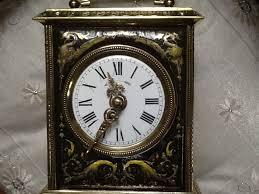 beautiful french travel alarm clock pendulette d officier ca 1900