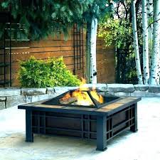 round outdoor fire pit cinder block fireplace