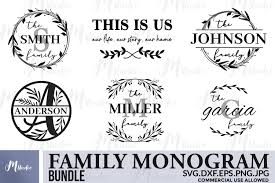 Check out our free svg files for cricut selection for the very best in unique or custom, handmade pieces from our art & collectibles shops. Family Monogram Bundle Svg Free Split Monogram Letters 484069 Cut Files Design Bundles