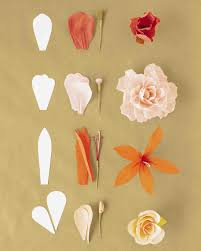 Make Flower With Paper How To Make Crepe Paper Flowers Martha Stewart Weddings