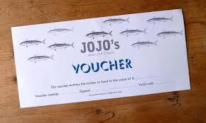 Examples Of Vouchers Restaurant Gift Vouchers JoJo's Meze Meat Fish Restaurant 1