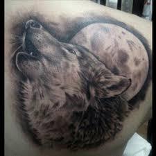 татуировка волк татуировка волк воющий на луну