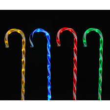 Barber Shop Candy Cane Light Snowtime Candy Cane Stakes Set Of 4