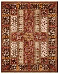 hand knotted oriental rug in india with a premium seridian wool pile