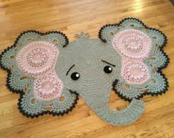 Elephant Rug Crochet Pattern Inspiration NEW PATTERN Josefina And Jeffery Elephant Rug Nursery Mat Carpet PDF