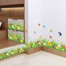 Großhandel Blume Grünes Gras Schmetterling Sockelleiste