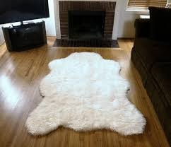 white polar bear rug