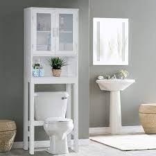 Amazon Com Wooden Over The Toilet Cabinet Storage Bestcomfort Bathroom Organizer Over Toilet Storage Above The Toilet Space Saver Cabinet 22 5 X 7 5 X 61 Kitchen Dining