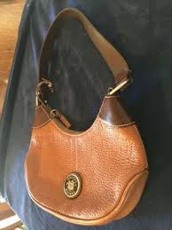 dooney bourke all weather leather small brown hobo shoulder bag great shape