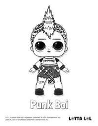 Punk Boy Lol Surprise Da Colorare Lol Surprise Da Colorare E