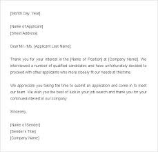 Ideas Collection Rejection Letter Sample Job Rejection Letter Sample