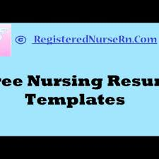 Free Resume Builder For Nurses Resumes For Nurses Template Free