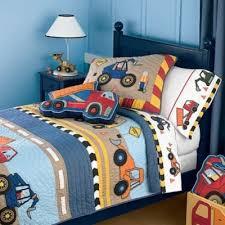 cute boys construction bedding set