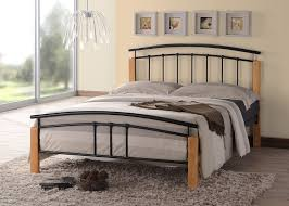 iron bedroom furniture. Tetras Contemporary Wooden Beech And Black Metal Bed Frame Bedroom Furniture (5FT King Size): Amazon.co.uk: Kitchen \u0026 Home Iron E