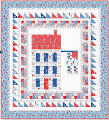 Quilt Inspiration: Free pattern day: Patriotic and flag quilts & Flag Day wall quilt, 38 x 42