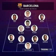 Pjanic in, Dembele out: Pedri displays his Barca XI on FIFA 21