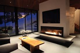 modern gas fireplace inserts family room contemporary with accent chairs concrete floors fireplace fireplace mantel
